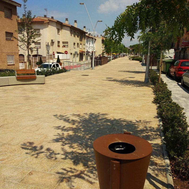 GESA S.L realitza amb èxit el projecte singular i la direcció de les obres de la re-urbanització de la carretera de Sentmenat (Polinyà)
