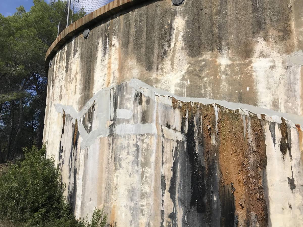 Comencen les obres del projecte executiu de millora del dipòsit principal d'aigua potable del municipi d'Olivella